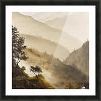 Misty Hills Picture Frame print