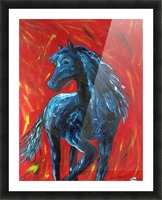 red horse Picture Frame print