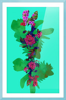 Floral Collage Picture Frame print