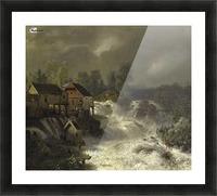 Die Wasserfalle von Trollhattan in Schweden Picture Frame print