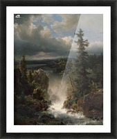 Landscape with a creek Picture Frame print