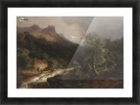 Gebirgslandschaft mit Muhle Picture Frame print