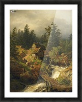 Mountain Mill Picture Frame print
