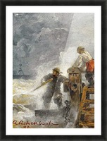 Stormy North Sea Picture Frame print