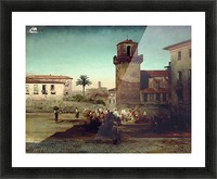 At the market Picture Frame print