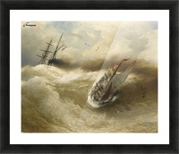 Boat in trouble Picture Frame print