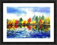 Fall Reflections Picture Frame print