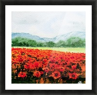 Red Poppies Field Picture Frame print