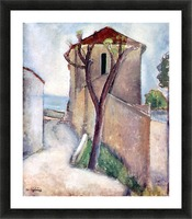 Modigliani - Tree and House Picture Frame print