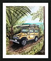 Collection COSTA RICA-Jeep Impression et Cadre photo