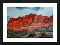THE MAGIC OF SUNSET IN UTAH Picture Frame print