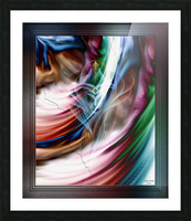 Whispers In A Dreams Of Beauty Fractal Abstract Portrait Art Picture Frame print