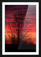 Liberty Missouri Sunset  Picture Frame print
