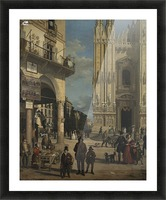 View of the Piazza del Duomo Picture Frame print