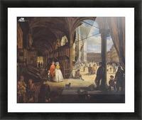 Veduta della piazza del Duomo dal Coperto dei Figini Picture Frame print