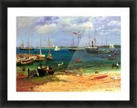 Nassau port by Bierstadt Picture Frame print