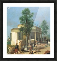 Zouave camp on Brescia city walls in June 1859 Picture Frame print
