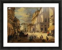 View of the Teatro alla Scala from Giardino lane Picture Frame print