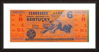 Vintage Kentucky Wildcats Football Ticket Art Picture Frame print
