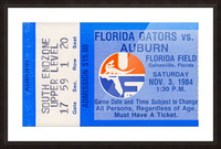 1984 Florida vs. Auburn Picture Frame print