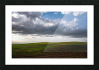 Fields and clouds Picture Frame print