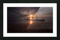 Sunset on Sker Beach Picture Frame print