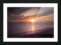 Sker Beach sunset Picture Frame print