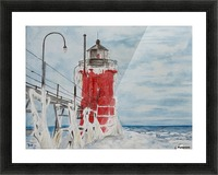 South Haven Lighthouse Michigan  Picture Frame print