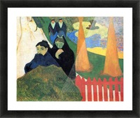 Old Maids in a Winter Garden - Arles by Gauguin Picture Frame print
