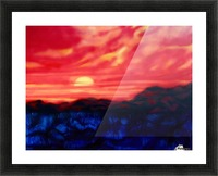 Fire Sunset Picture Frame print