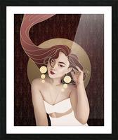 Vintage Hair Picture Frame print