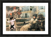 On the ferry waiting 2 by Tissot Picture Frame print