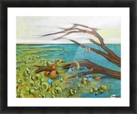 landscape with garbage Picture Frame print