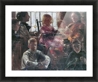 Hull family by Lovis Corinth Picture Frame print