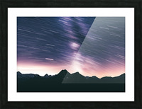 Moving stars Picture Frame print