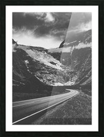 Into the wall of ice Picture Frame print