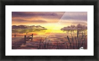 Peaceful Sunset At The Lake Picture Frame print