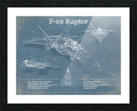 f 22 Picture Frame print