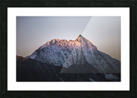 Awakening of the mountain Picture Frame print
