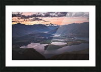 Tititea Mount Aspiring Picture Frame print