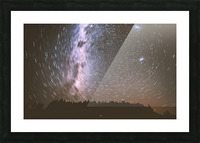 Spin of stars Picture Frame print