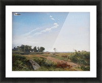Zealand Landscape. Open Country in North Zealand Picture Frame print