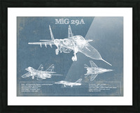 mig29a Picture Frame print