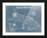 spaceshuttle Picture Frame print