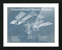 SpaceStation Picture Frame print
