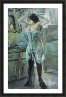 In a corset by Lovis Corinth Picture Frame print