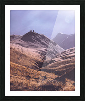 Gergeti in moring sunlight. Picture Frame print