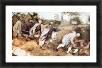 Parabal of the blind men by Pieter Bruegel Picture Frame print