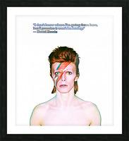 David Bowie Ziggy Stardust Picture Frame print
