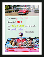 Ferris Bueller Day Off Picture Frame print